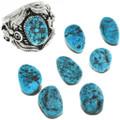 Sterling Silver Kingman Turquoise Ring 23077