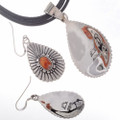 Navajo Hammered Silver Shell Jewelry 27989