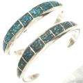 Turquoise Silver Navajo Bracelet 29658