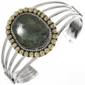 African Turquoise Gold Silver Ladies Cuff 29215