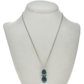 Turquoise Silver Native American Pendant 28656
