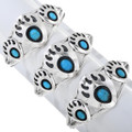 Native American Bear Paw Turquoise Bracelets 14859