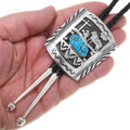Native American Sterling Turquoise Bolo Tie 25097