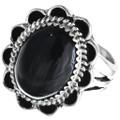 Natural Black Onyx Ring 28914