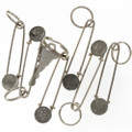 Large Safety Pin Style Key Ring 27673