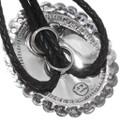 Scalloped Edge Silver Bolo Tie 23405