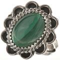 Malachite Silver Ladies Ring 28612