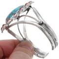 Turquoise Coral Navajo Bracelet 23888