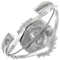 Navajo Made Sterling Silver Turquoise Bracelet Signed 23888