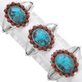 Native American Sterling Silver Turquoise Cuff Bracelet 23888