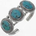 Blue Turquoise Silver Bracelet 25852