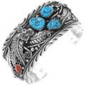 Turquoise Coral Mens Bracelet 18907