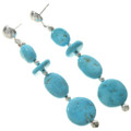 Turquoise Silver Post Earrings 28398
