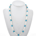 Turquoise Silver Bead Necklace 29258