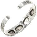 Sterling Onyx Native American Bracelet 29420