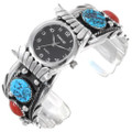 Ladies Turquoise Coral Watch 24428