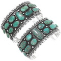 Native American Turquoise Silver Mens Bracelet 27439