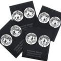 Sterling Silver Concho Western Earrings 20741