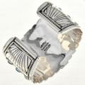 Navajo Wide Sterling Silver Cuff Bracelet 27888