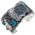Elk Turquoise Silver Watch Bracelet 20157