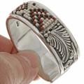Seed Bead Sterling Cuff Bracelet 26848