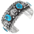 Natural Turquoise Mens Cuff Bracelet 22418