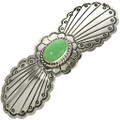Green Turquoise Silver Navajo Hair Barrette 29348