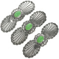 Green Turquoise Silver Hair Barrette