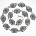Turquoise Link Concho Belt 23491