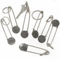 Large Safety Pin Style Key Ring 27674