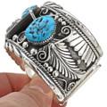 Big Boy turquoise Silver Cuff Bracelet 24967