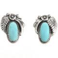 Navajo Turquoise Sterling Earrings 29398