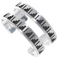 Navajo Calvin Peterson Sterling Silver Cuff Bracelets 23236