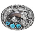 Turquoise Bear Claw Belt Buckle 28227