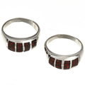 Inlaid blood Red Coral Jewelry 29767