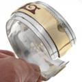 Inlaid Coral Cuff Bracelet 13230