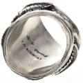 Navajo Sterling Silver Mens Ring 28957