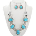 Navajo Turquoise Necklace Set 15314