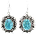 Turquoise Silver Earrings  15314