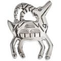 Native American Silver Bighorn Sheep Lapel Pin 29614