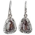 Wild Horse Magnesite Silver Earrings 27765