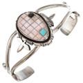 Navajo Pretty Pink Turquoise Cuff Bracelet 29716
