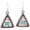 Pink Shell French Hook Dangle Earrings 29716