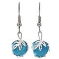 Blue Silver Dangle southwest Earrings 29700