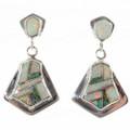 Inlaid Opal Dangle Post Earrings 15183