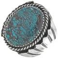 Spiderweb Turquoise Mens Ring 29279