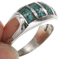 Navajo Chip Inlay Ring 29764