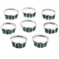 Mens Ladies Turquoise Smooth Silver Rings 29764