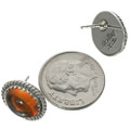 Native American Amber Stud Earrings 28448