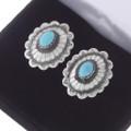 Native American Silver Concho Cuff Links 19615